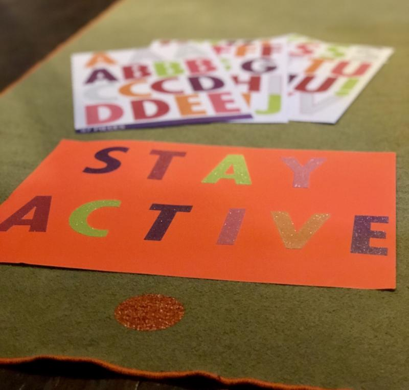 Stay Active Poster and Yoga Mat